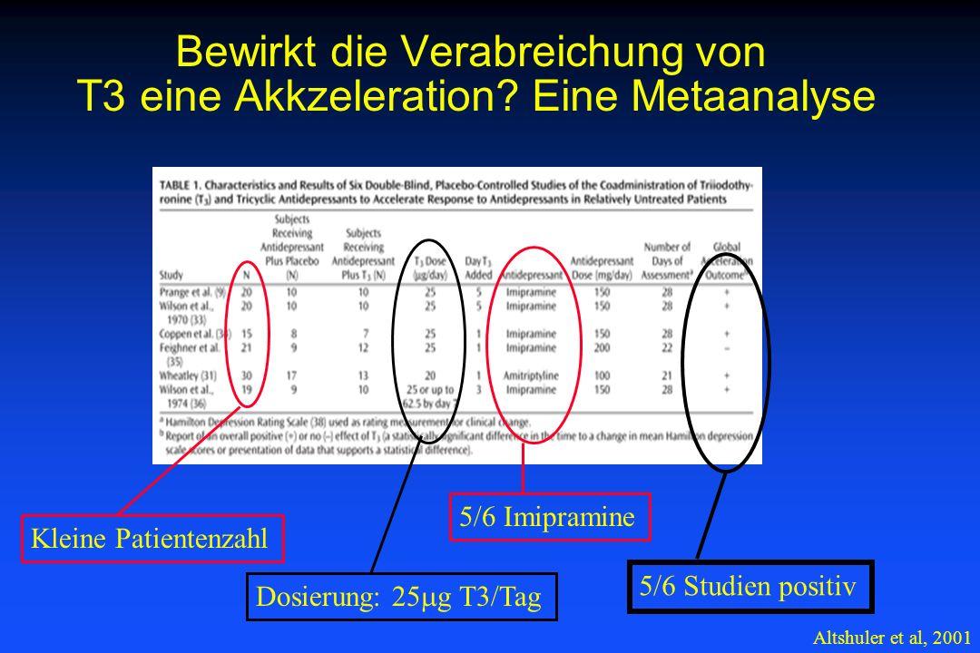 Bewirkt die Verabreichung von T3 eine Akkzeleration Eine Metaanalyse