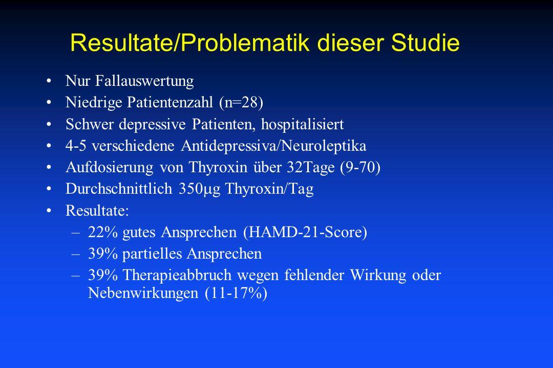 Resultate/Problematik dieser Studie