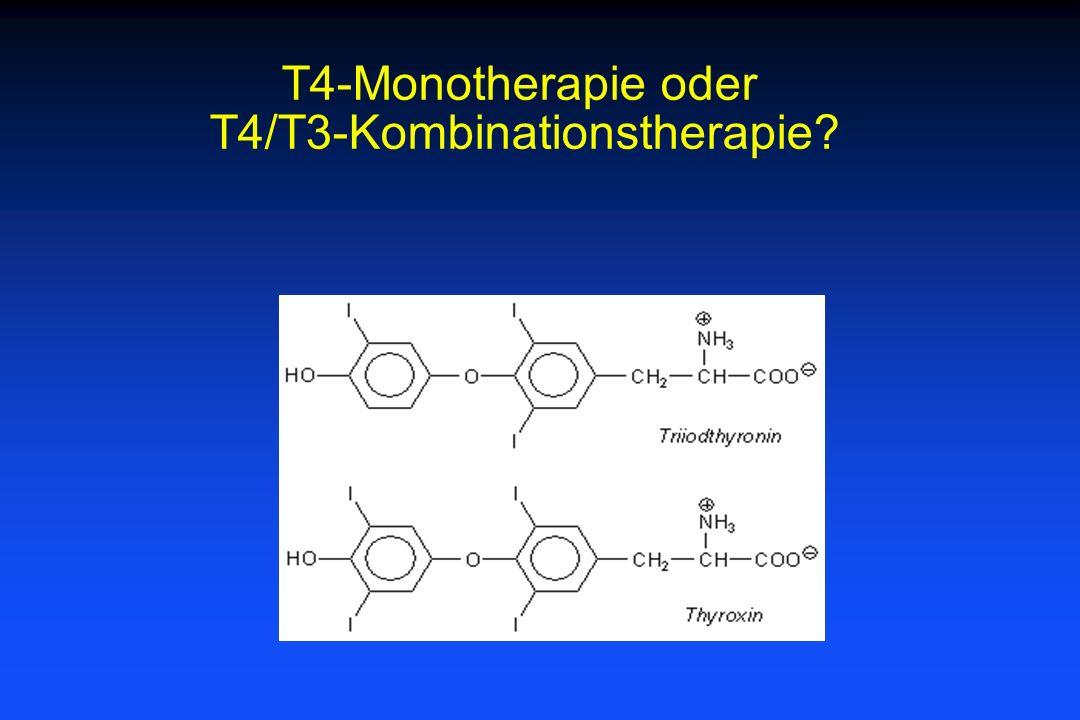 T4-Monotherapie oder T4/T3-Kombinationstherapie