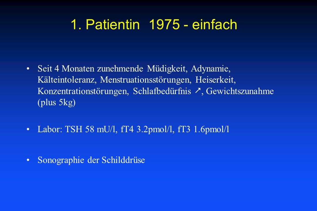 1. Patientin 1975 - einfach