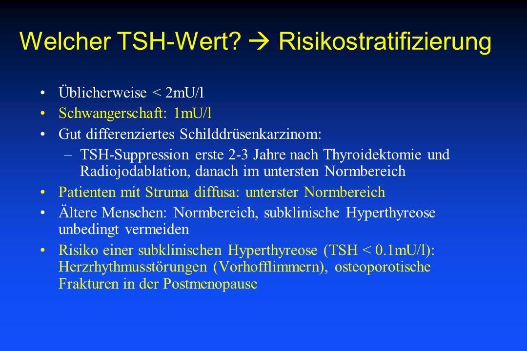 Welcher TSH-Wert  Risikostratifizierung