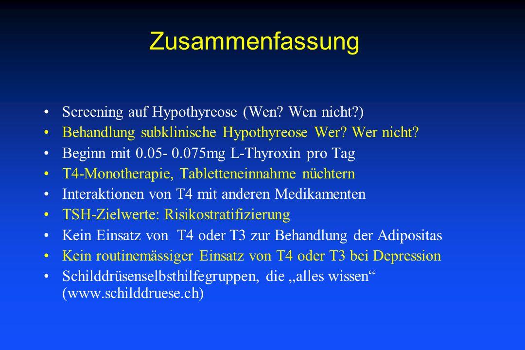 Zusammenfassung Screening auf Hypothyreose (Wen Wen nicht )