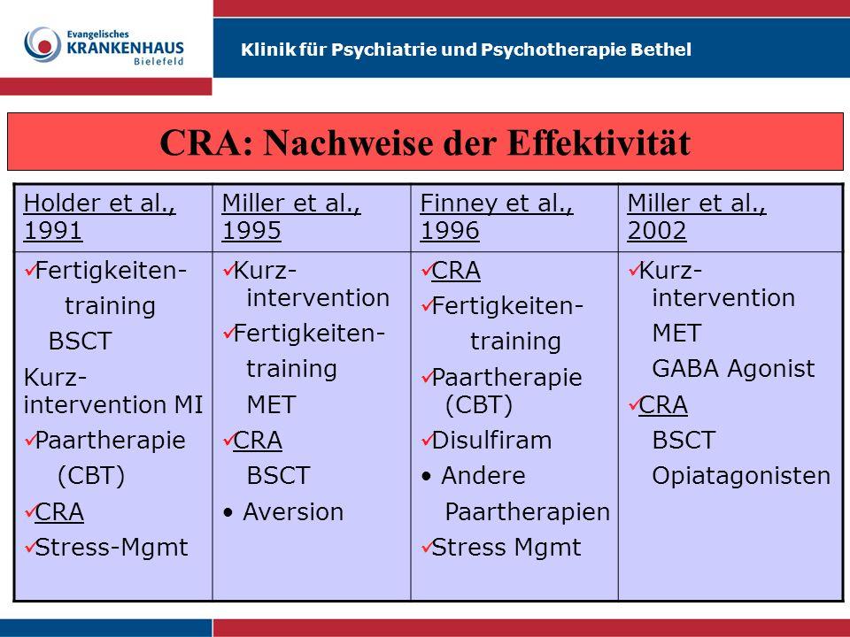 CRA: Nachweise der Effektivität