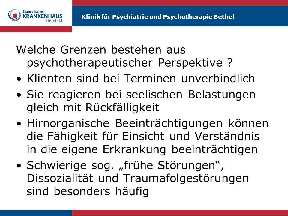 Welche Grenzen bestehen aus psychotherapeutischer Perspektive