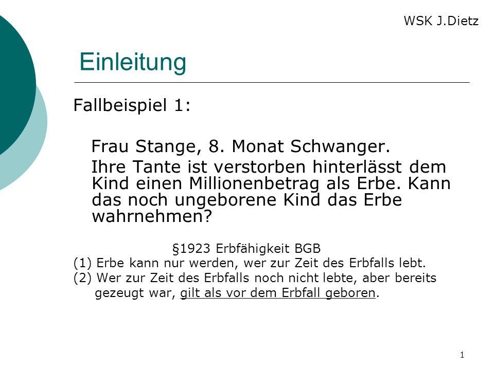 Einleitung Fallbeispiel 1: Frau Stange, 8. Monat Schwanger.