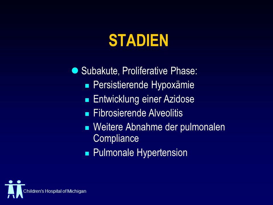 STADIEN Subakute, Proliferative Phase: Persistierende Hypoxämie