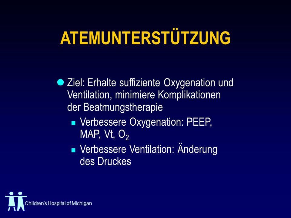 ATEMUNTERSTÜTZUNG Ziel: Erhalte suffiziente Oxygenation und Ventilation, minimiere Komplikationen der Beatmungstherapie.