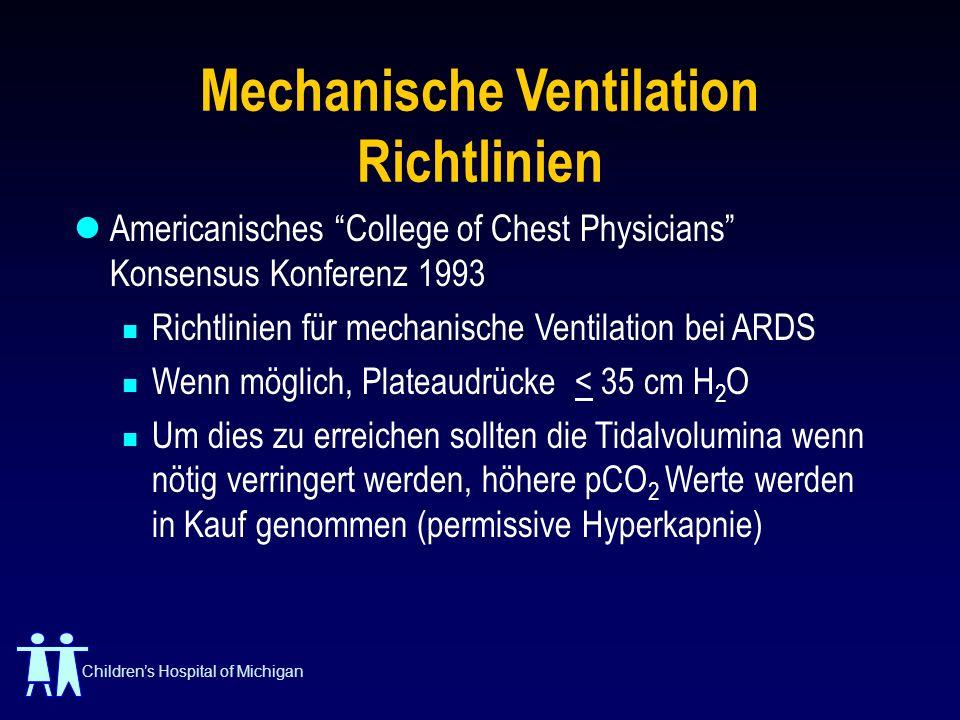 Mechanische Ventilation Richtlinien