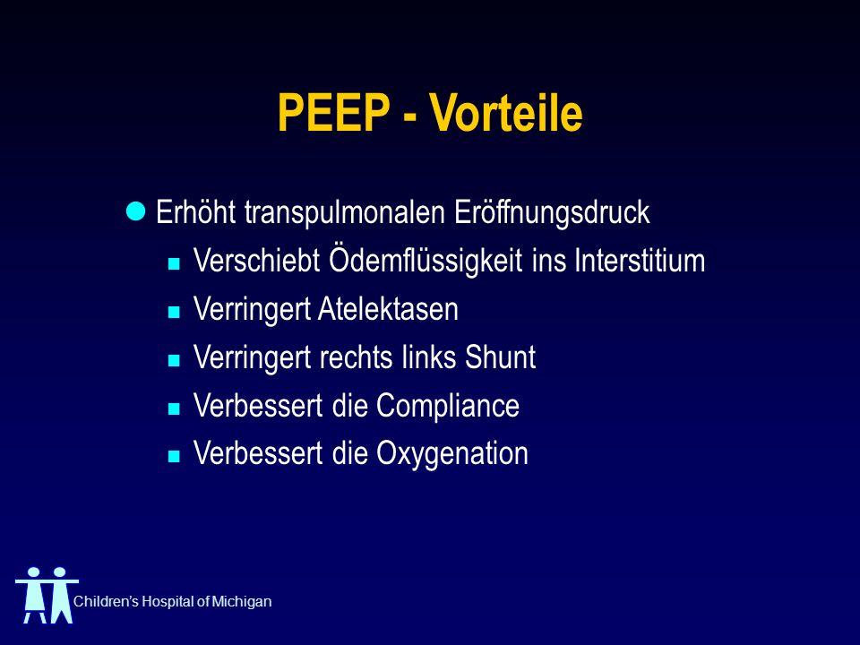PEEP - Vorteile Erhöht transpulmonalen Eröffnungsdruck