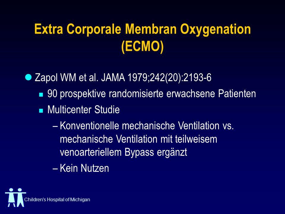 Extra Corporale Membran Oxygenation (ECMO)