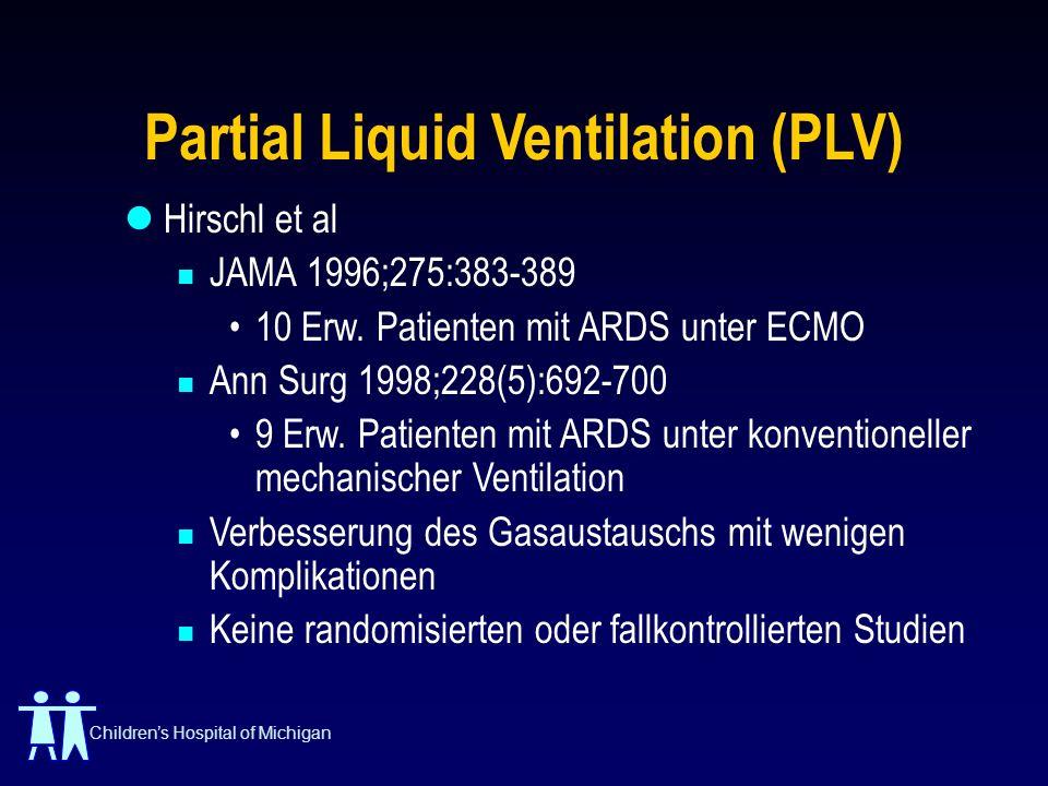 Partial Liquid Ventilation (PLV)