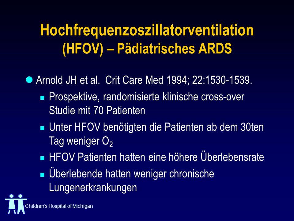 Hochfrequenzoszillatorventilation (HFOV) – Pädiatrisches ARDS