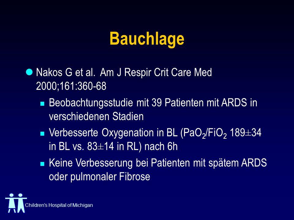 Bauchlage Nakos G et al. Am J Respir Crit Care Med 2000;161:360-68