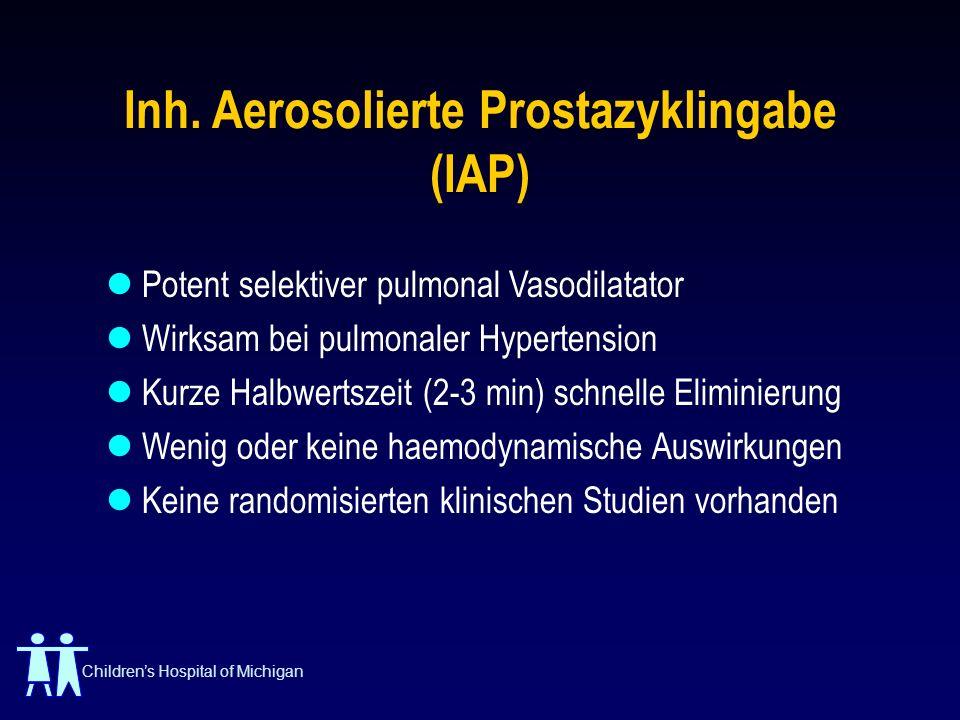 Inh. Aerosolierte Prostazyklingabe (IAP)