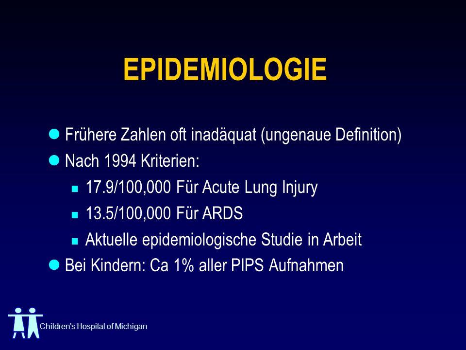 EPIDEMIOLOGIE Frühere Zahlen oft inadäquat (ungenaue Definition)