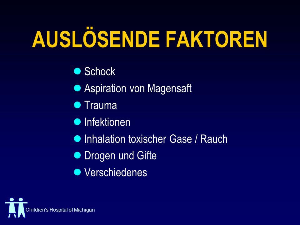 AUSLÖSENDE FAKTOREN Schock Aspiration von Magensaft Trauma Infektionen