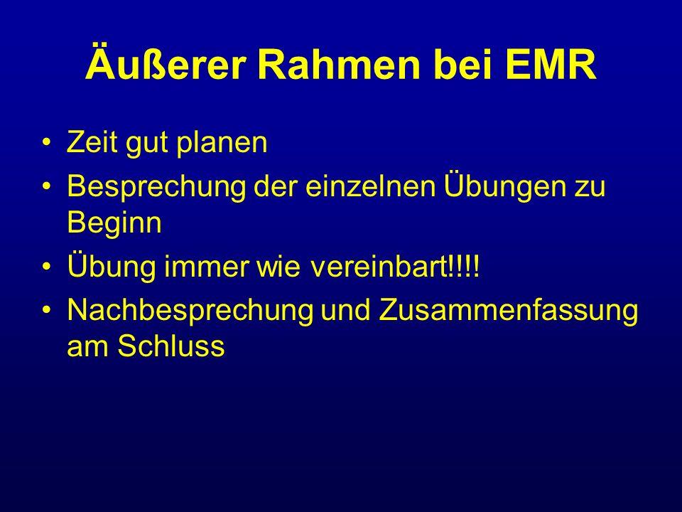 Äußerer Rahmen bei EMR Zeit gut planen