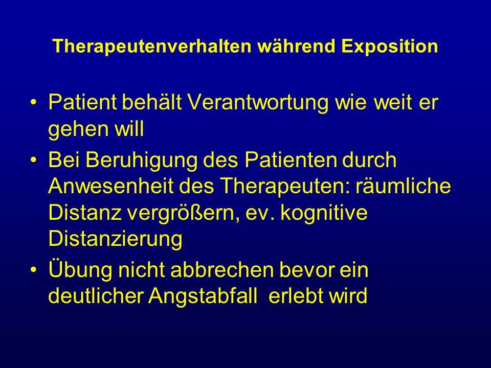 Therapeutenverhalten während Exposition