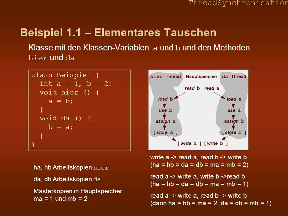 Beispiel 1.1 – Elementares Tauschen