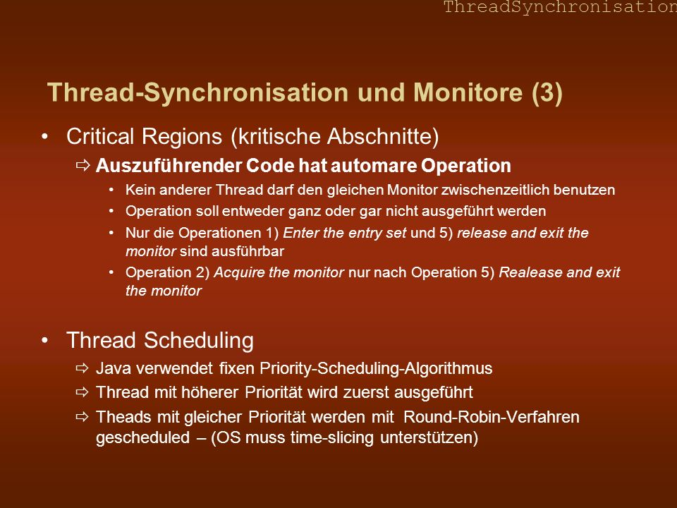 Thread-Synchronisation und Monitore (3)