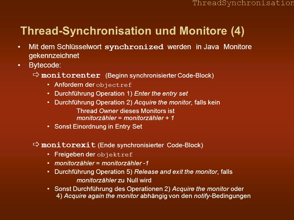 Thread-Synchronisation und Monitore (4)
