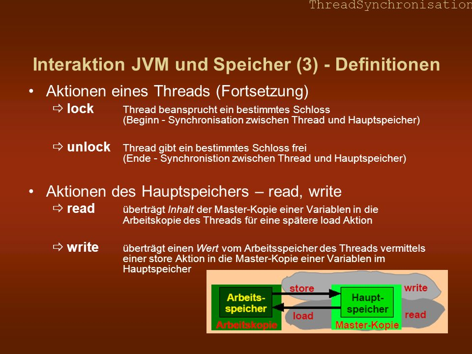 Interaktion JVM und Speicher (3) - Definitionen