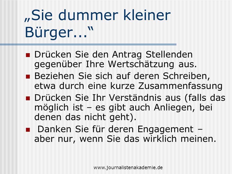 """""""Sie dummer kleiner Bürger..."""