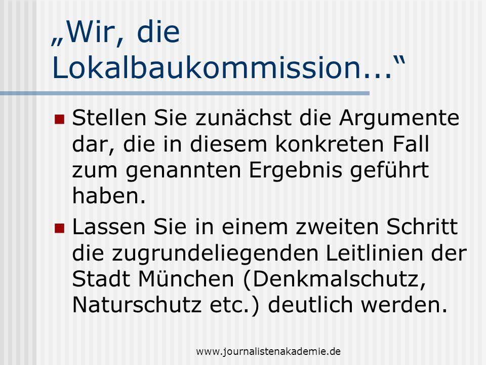 """""""Wir, die Lokalbaukommission..."""