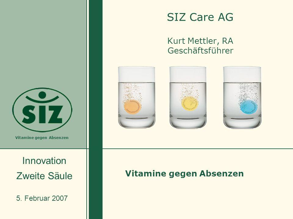 SIZ Care AG Kurt Mettler, RA Geschäftsführer