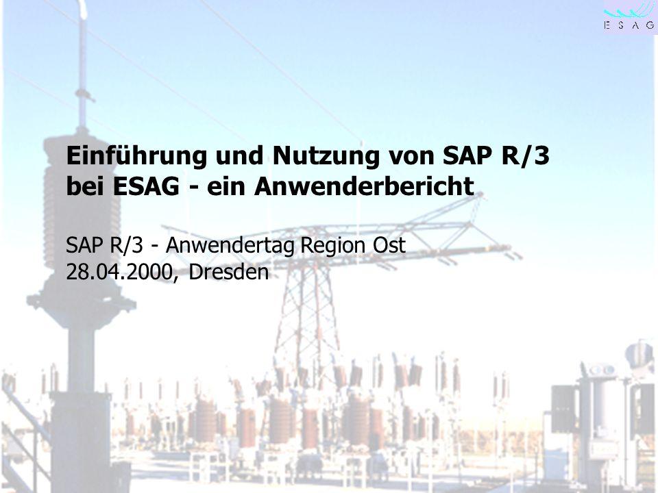 Einführung und Nutzung von SAP R/3 bei ESAG - ein Anwenderbericht