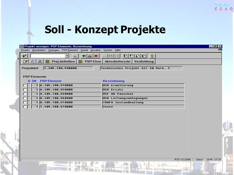 Soll - Konzept Projekte