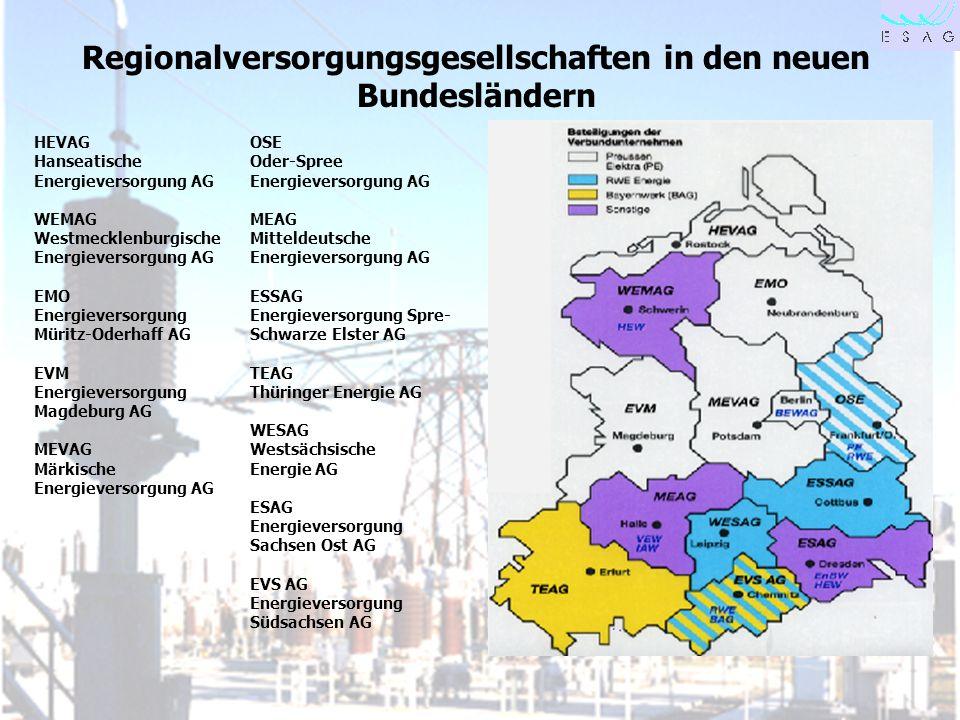 Regionalversorgungsgesellschaften in den neuen Bundesländern