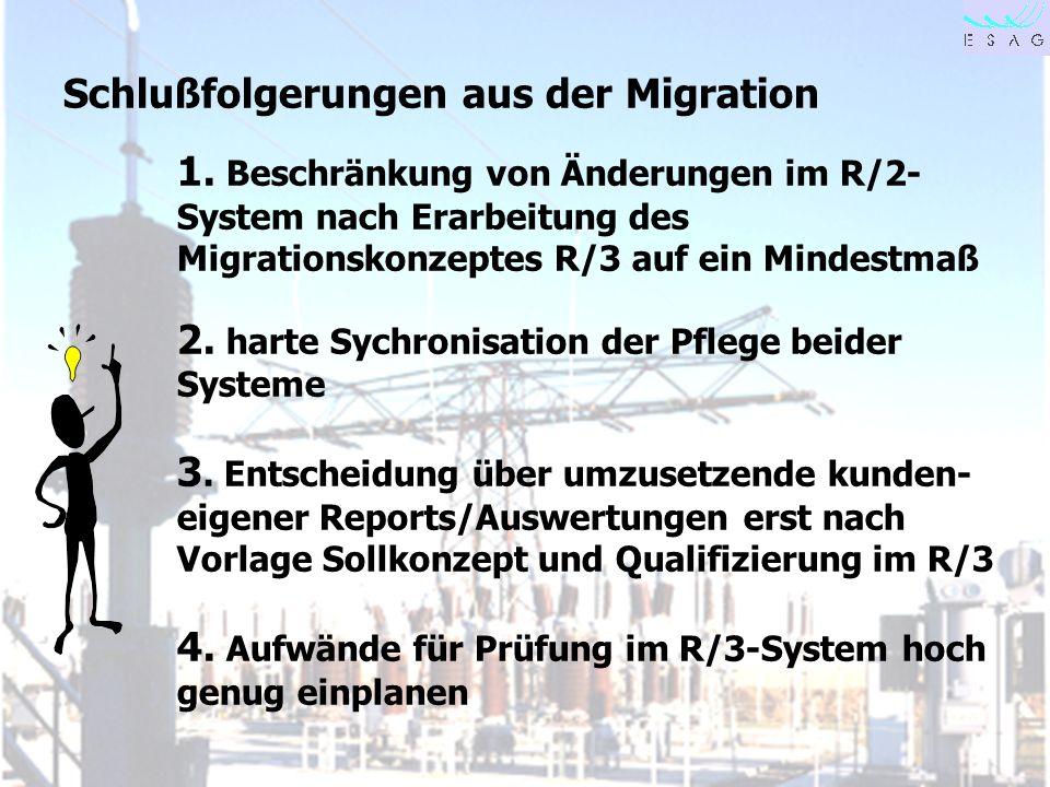 Schlußfolgerungen aus der Migration