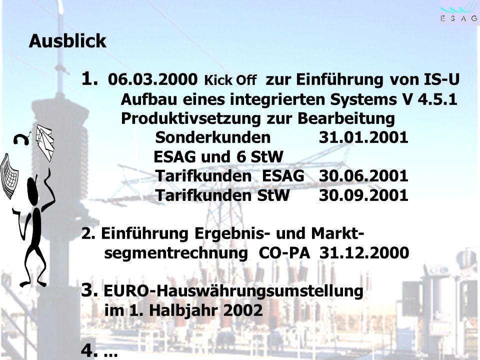 1. 06.03.2000 Kick Off zur Einführung von IS-U