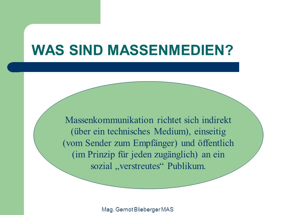 Mag. Gernot Blieberger MAS