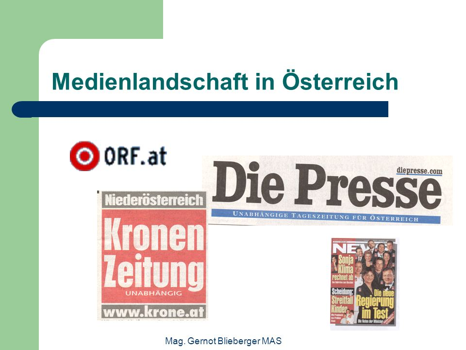 Medienlandschaft in Österreich