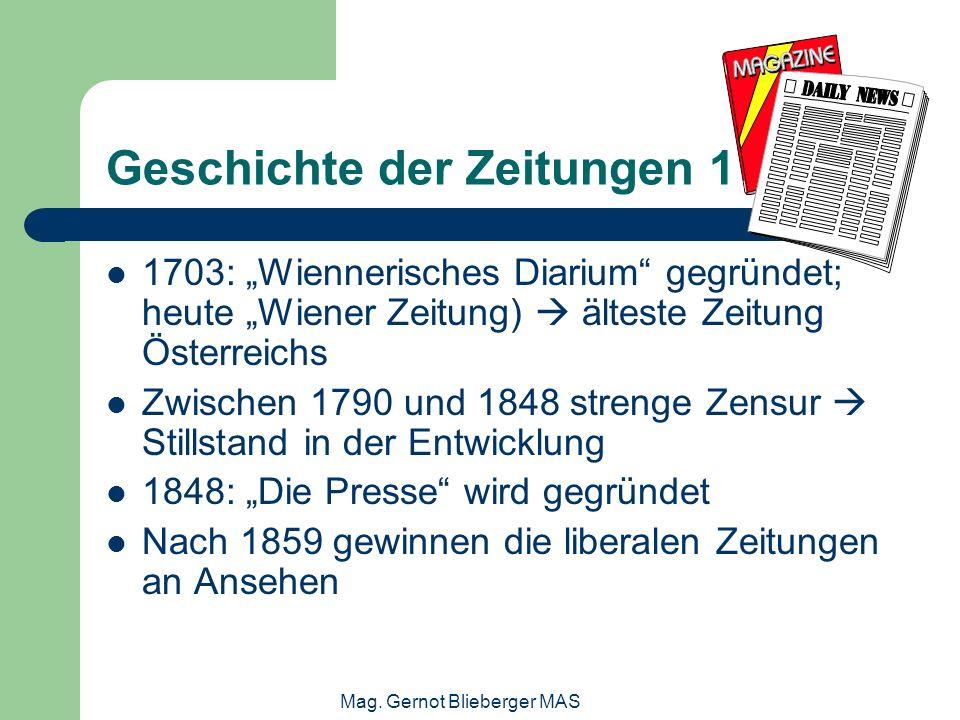Geschichte der Zeitungen 1