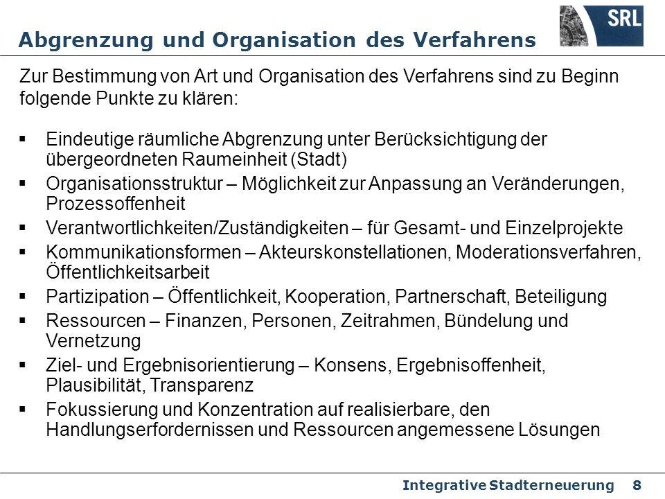 Abgrenzung und Organisation des Verfahrens