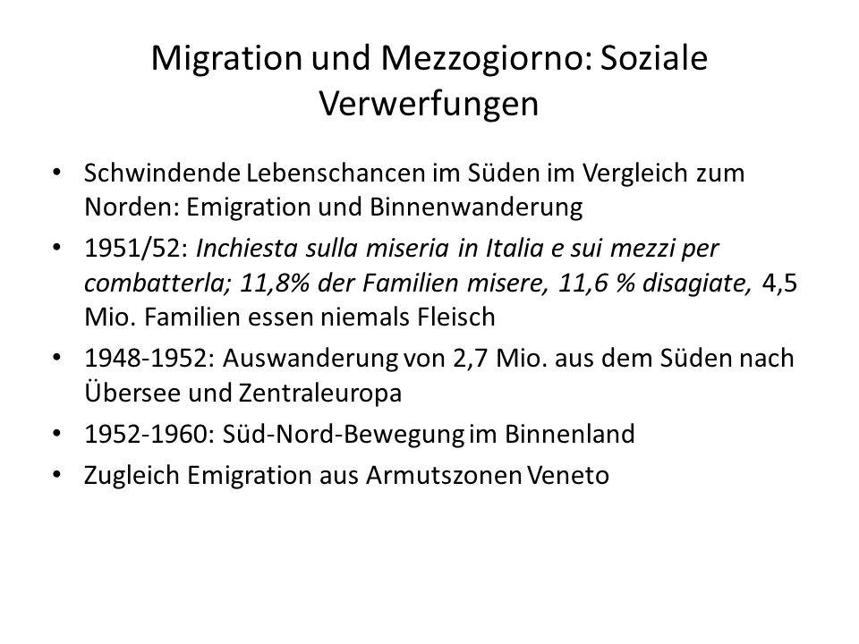 Migration und Mezzogiorno: Soziale Verwerfungen