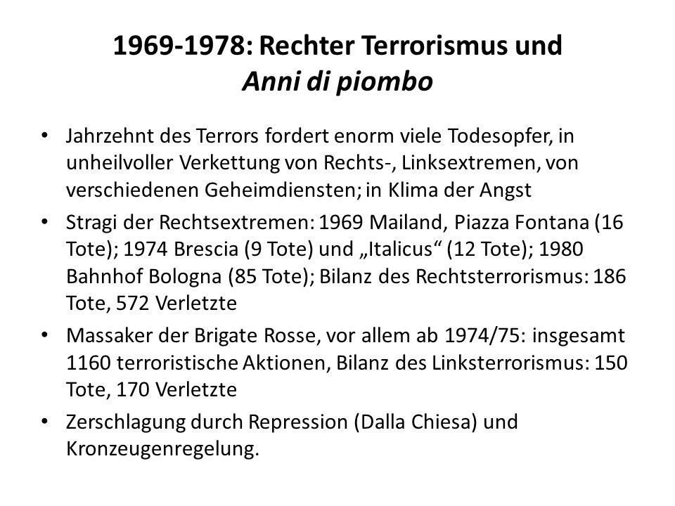 1969-1978: Rechter Terrorismus und Anni di piombo