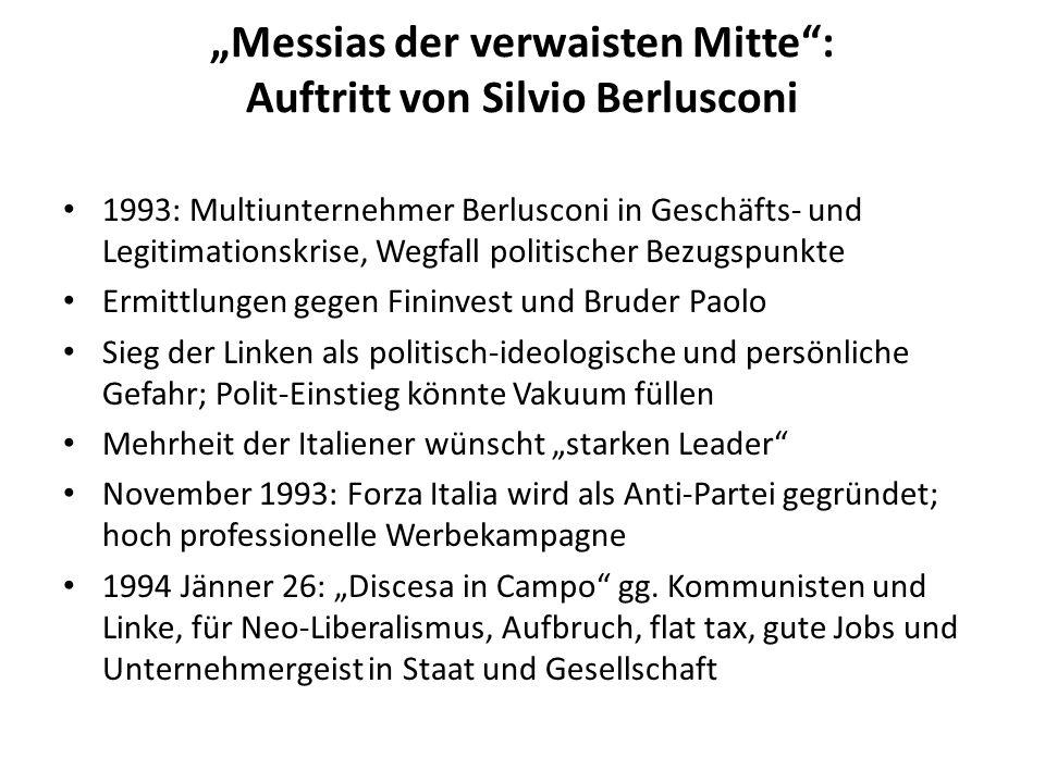 """""""Messias der verwaisten Mitte : Auftritt von Silvio Berlusconi"""