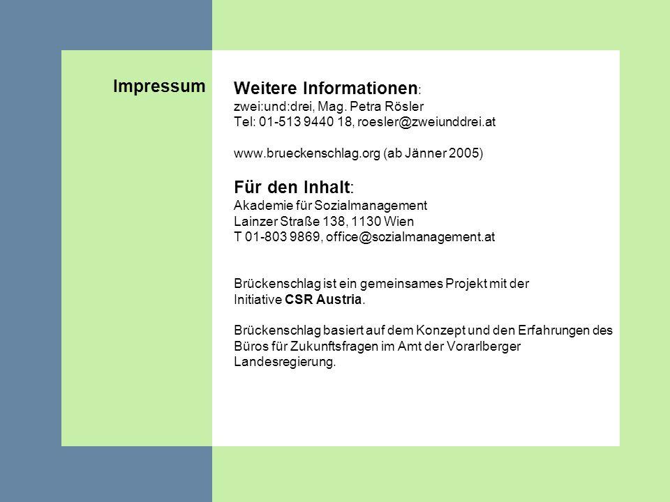 Weitere Informationen: zwei:und:drei, Mag. Petra Rösler
