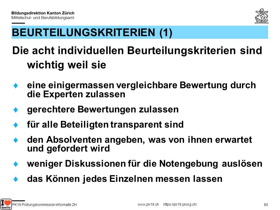 BEURTEILUNGSKRITERIEN (1)