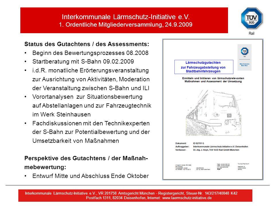 Status des Gutachtens / des Assessments: