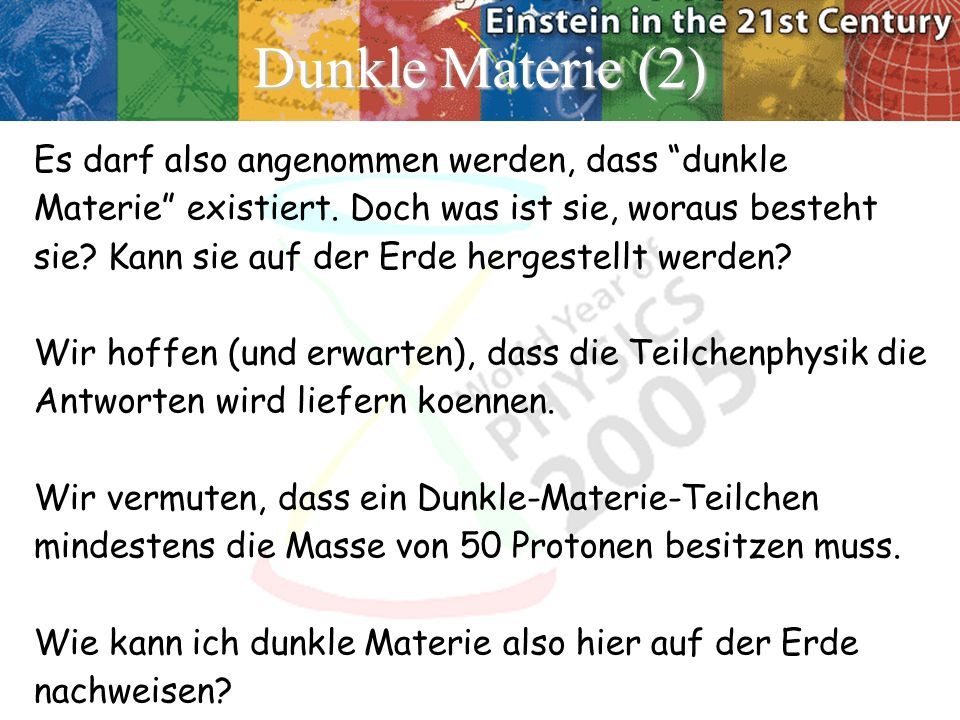 Dunkle Materie (2)‏