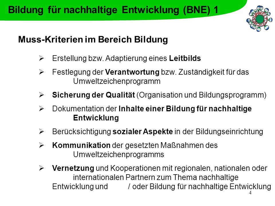 Bildung für nachhaltige Entwicklung (BNE) 1
