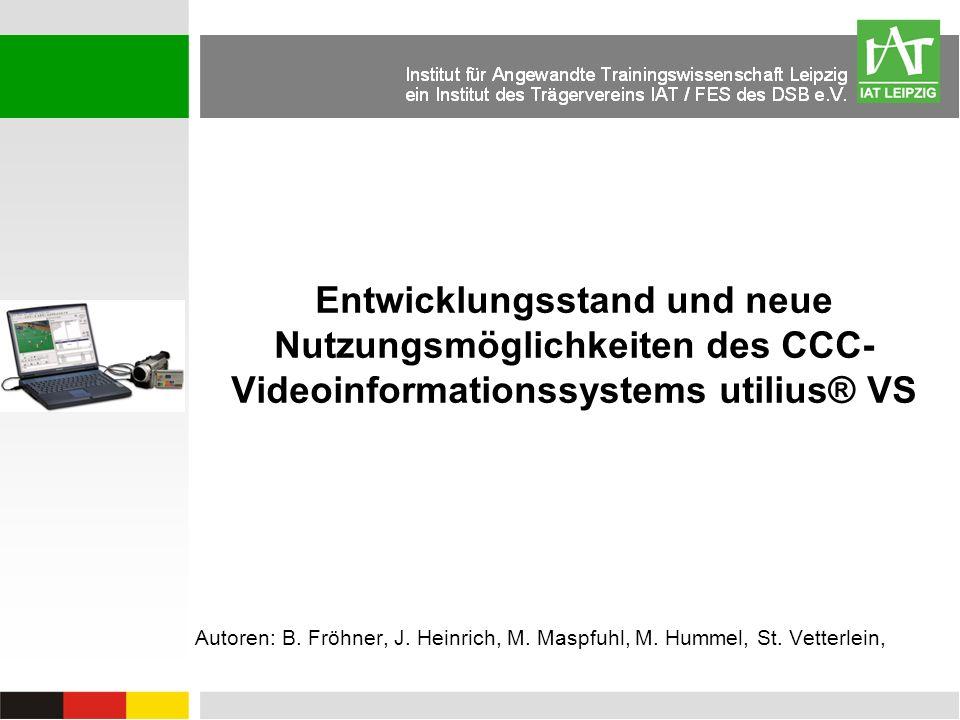 Entwicklungsstand und neue Nutzungsmöglichkeiten des CCC-Videoinformationssystems utilius® VS