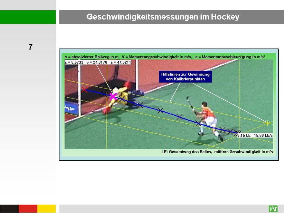 Geschwindigkeitsmessungen im Hockey