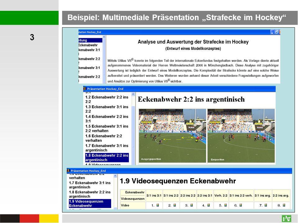 """3 Beispiel: Multimediale Präsentation """"Strafecke im Hockey"""