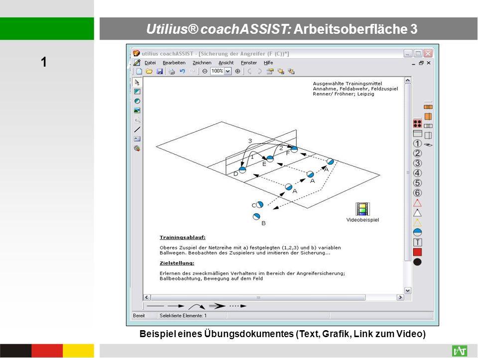 Utilius® coachASSIST: Arbeitsoberfläche 3